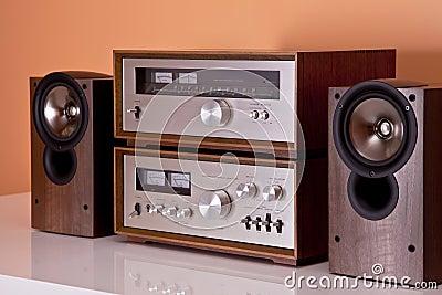 Vintage Stereo Amplifier tuner speakers