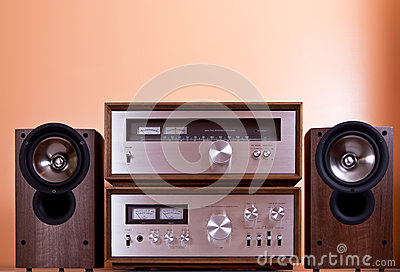 Vintage Stereo Amplifier tuner speakers