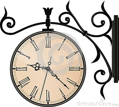 Free Vintage Street Clock. EPS10 Royalty Free Stock Image - 32057196