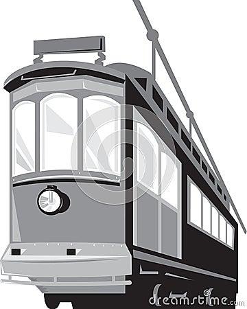 Vintage Streetcar Tram Train