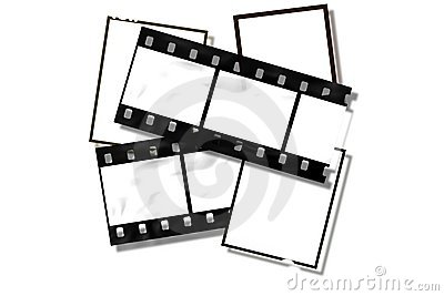 Vintage style film frames.