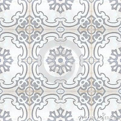 Vintage Style Floor Tile Pattern Texture Stock Photo