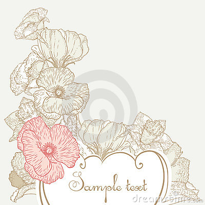 Free Vintage Style Floral Background Royalty Free Stock Photo - 21194555