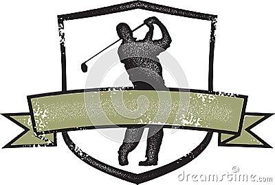 Vintage Style Golf Crest