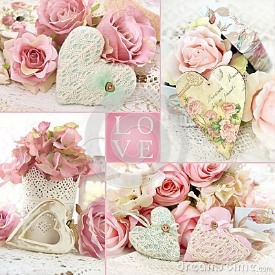 Free Vintage Style LOVE Collage Royalty Free Stock Image - 108880996