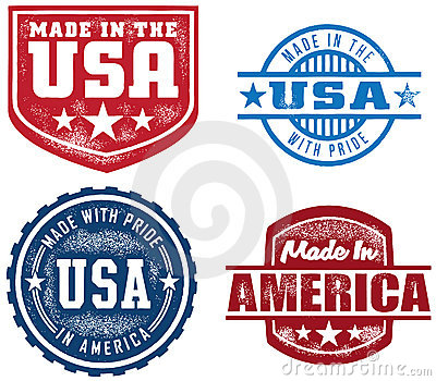 Vintage Style Made in USA Stamps
