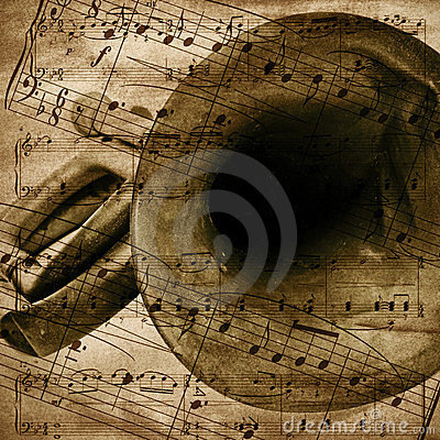 Free Vintage-style Musical Background Royalty Free Stock Photo - 23647215