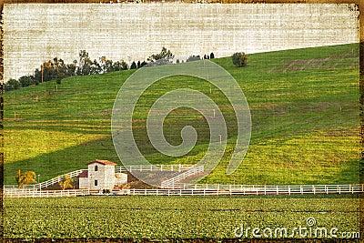 Vintage Style Rural Landscape