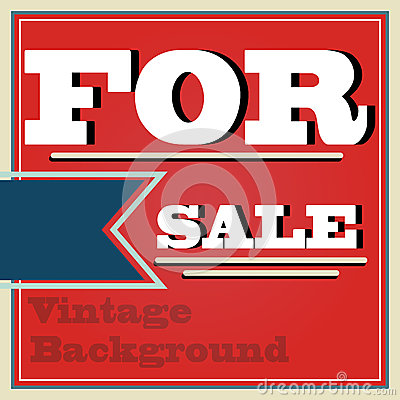 Vintage style for sale background illustration