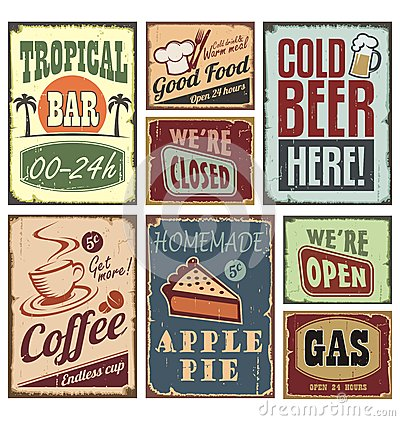 Free Vintage Style Signs Stock Photos - 27498583
