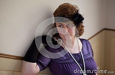 Vintage Style woman Portrait
