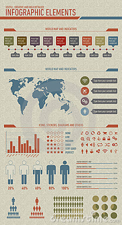 Vintage styled infographic elements
