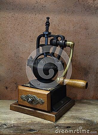 Vintage styled of old coffee grinder