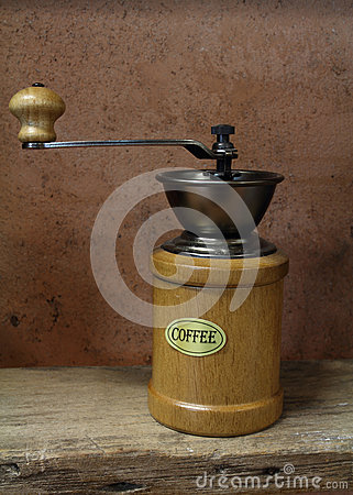 Vintage styled of old coffee grinder
