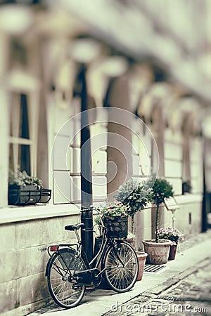 Free Vintage Stylized Photo Of Old Bicycle Stock Image - 37667261