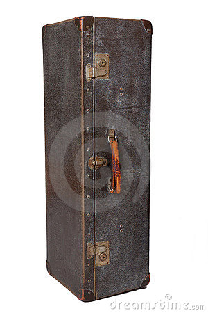 Vintage suitcase vertical