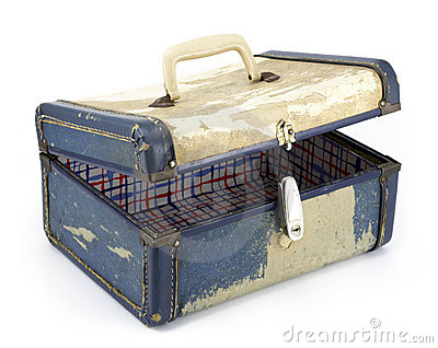 Vintage Suitcase On White Background Stock Photos - Image: 9110693