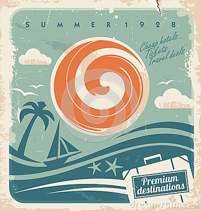 Free Vintage Summer Holiday Poster Stock Photos - 29466163