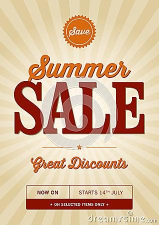 Free Vintage Summer Sale Design Royalty Free Stock Photos - 35868938