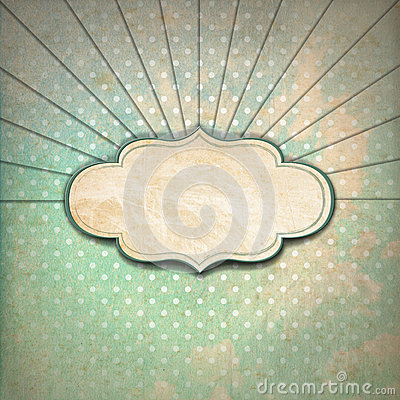Free Vintage Sunbeams Background With Label Royalty Free Stock Image - 35950056