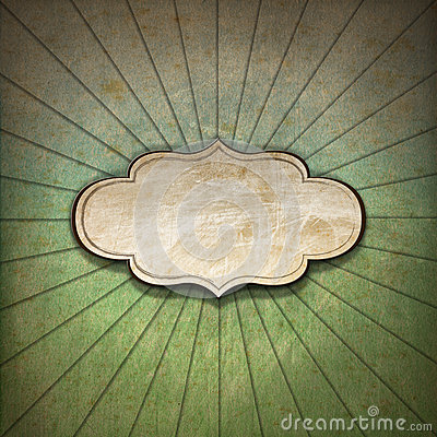 Free Vintage Sunbeams Background With Label Stock Photo - 35950320
