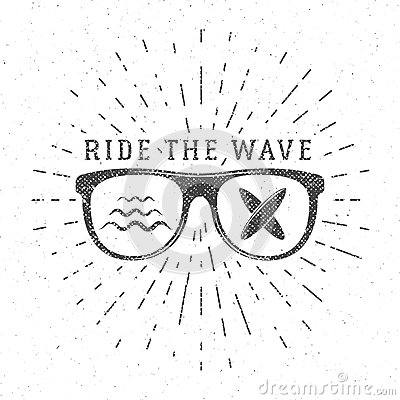 Free Vintage Surfing Graphics And Poster For Web Design Or Print. Surfer Glasses Emblem, Summer Beach Logo Design. Surf Badge Royalty Free Stock Images - 67732979