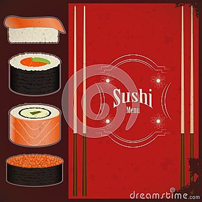 Vintage Sushi Menu