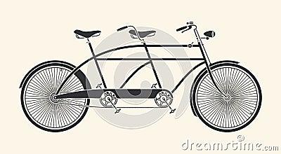 Vintage tandem bicycle