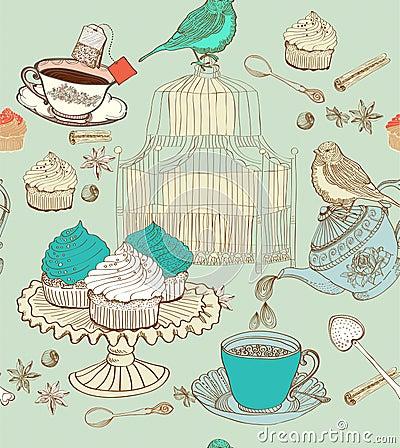 Free Vintage Tea Background Stock Photos - 27055013