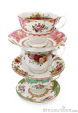 Free Vintage Tea Cups Stock Photos - 50264463