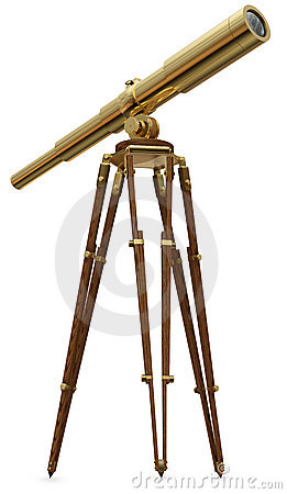 Free Vintage Telescope Royalty Free Stock Photos - 11185438