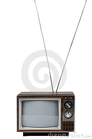 Vintage Television With Antenna