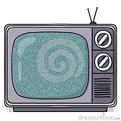 Vintage Television set illustration