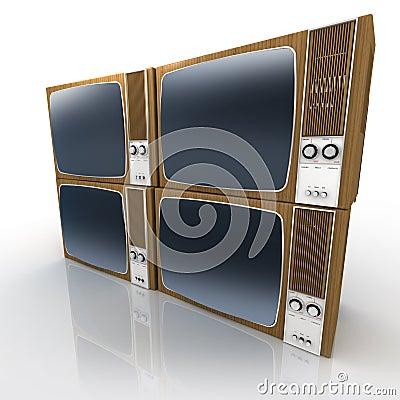 Vintage Televisions Display