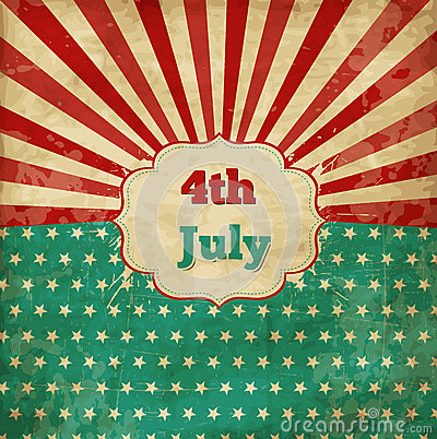 Free Vintage Template For 4th Of July Stock Images - 31304644
