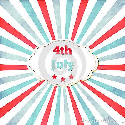 Free Vintage Template For 4th Of July With Frame Stock Images - 31703374