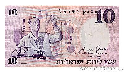 Vintage ten Pound bill
