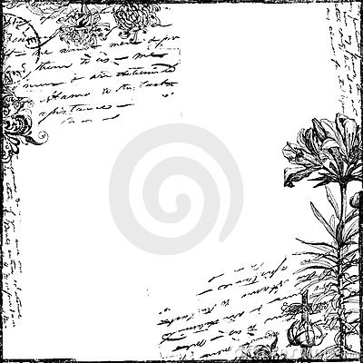 Free Vintage Text Collage Victorian Background Paper Stock Images - 9108014