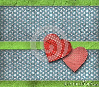 Vintage texture, valentine s card