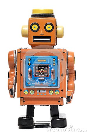 Free Vintage Tin Robot Toy Royalty Free Stock Photography - 107184247