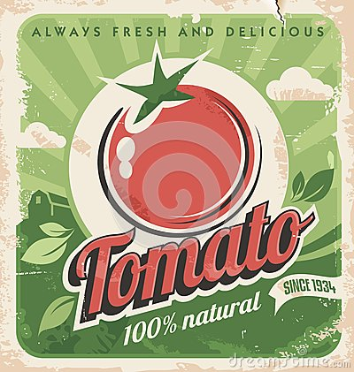 Free Vintage Tomato Poster Stock Images - 30362414