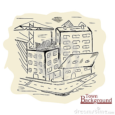 Vintage town background