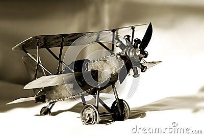 Vintage Toy Bi-Plane (sepia)