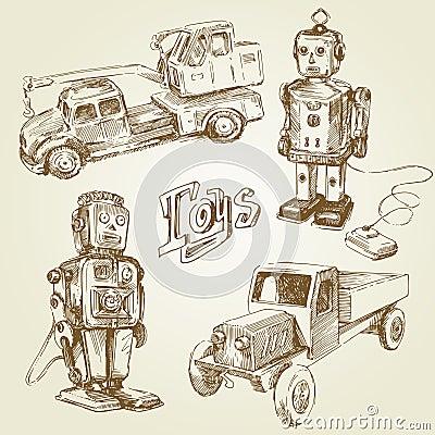 Free Vintage Toys Royalty Free Stock Photo - 23173735