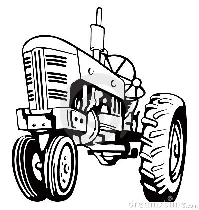 Free Farm on Vintage Tractor Stock Image   Image  3147421