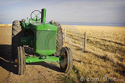 Vintage Tractor Editorial Stock Image