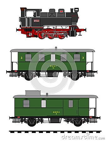 Vintage Train Stock Vector - Image: 44225596