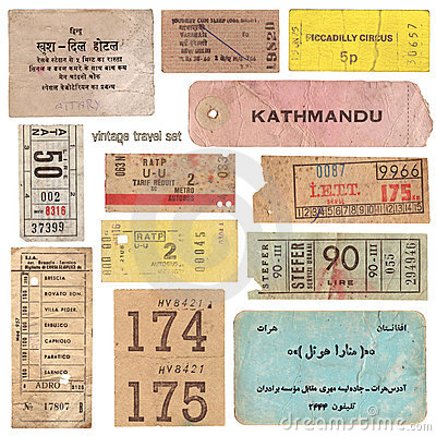 Vintage travel documents