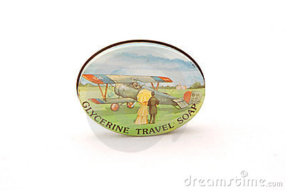 Vintage travel soap