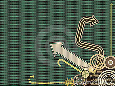 Vintage Trendy Vector Arrow Background